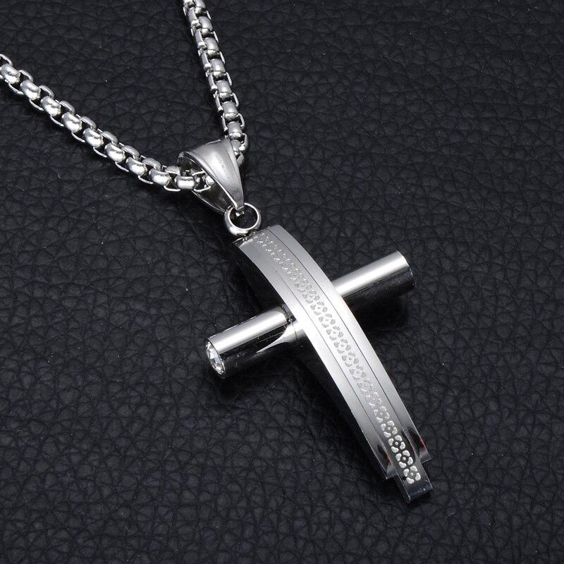 Christian Men & Women Stainless Steel Cross Necklace
