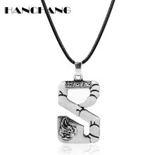 HANCHANG Music Band Necklace Heavy Metal Rock Band Scorpion Logo Necklaces Scorpio Pendant Collare Hip Hop Jewelry(China)
