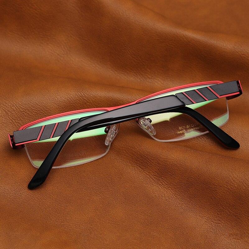 59b22c738e855 Men Metal Eye Glasses Prescription Double Layer Half Rim Trendy Round  Safety Pads Reading Optical Spetacles  TF2021-in Prescription Glasses from  Men s ...