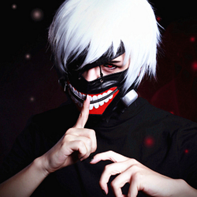 hot halloween mask cosplay tokyo ghoul mask adjustable zipper pu leather cool mask blinder mascaras scary - Cool Masks For Halloween