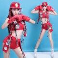 Bar de baile DS traje nueva cicatriz reducción hiphop hip hop cheerleading performance DJ discoteca desgaste de la danza ropa