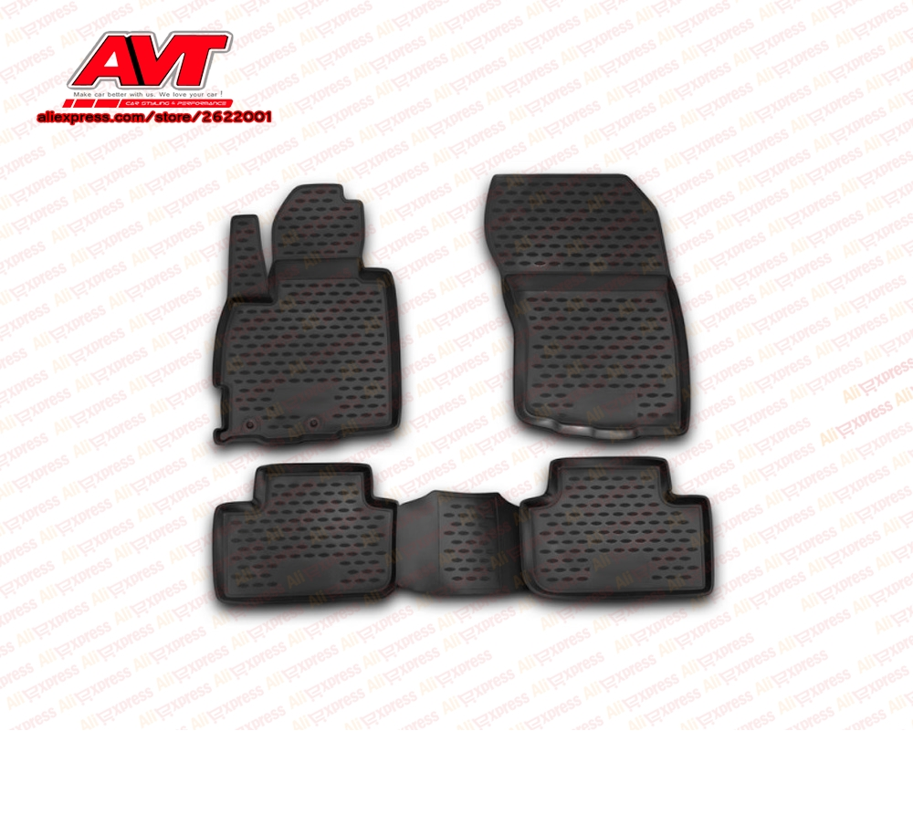 Floor mats for Mitsubishi Asx 2010- 4 pcs rubber rugs non slip rubber interior car styling accessoriesFloor mats for Mitsubishi Asx 2010- 4 pcs rubber rugs non slip rubber interior car styling accessories