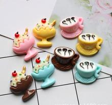 Ice Cream Resin Accessories Mobile Phone Shell DIY Material Refrigerator Stickers Home Decoration