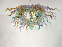 Free Shipping Attractive Fanstic Murano Glass Chandelier With LED Bulbs