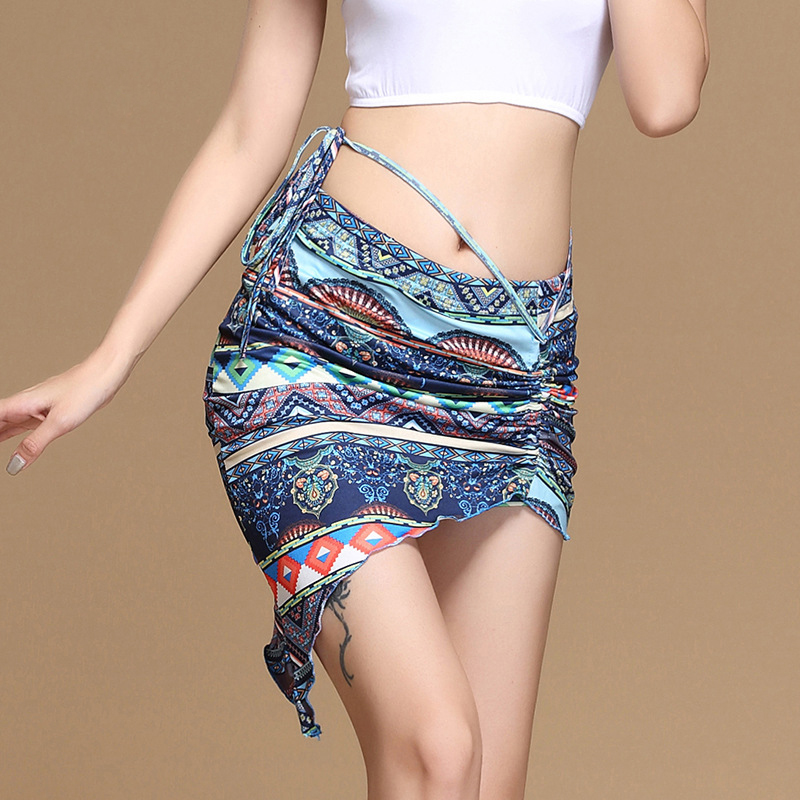 Women Bellydancing Clothes Fishtail Skirts Professional Wrapped Chiffon Belly Dance Skirt White Dresses Clothes