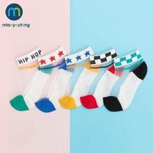 5 пар/лот тонкие хлопковые носки в сеточку с единорогом для