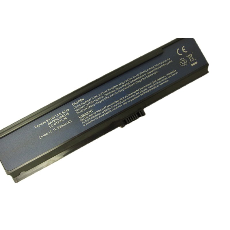 GZSM Laptop Battery 3000 For Acer 3030 3050 5000 5500 battery for laptop BATEFL50L6C40 BATEFL50L6C48 3UR18650Y 2 QC261 battery in Laptop Batteries from Computer Office