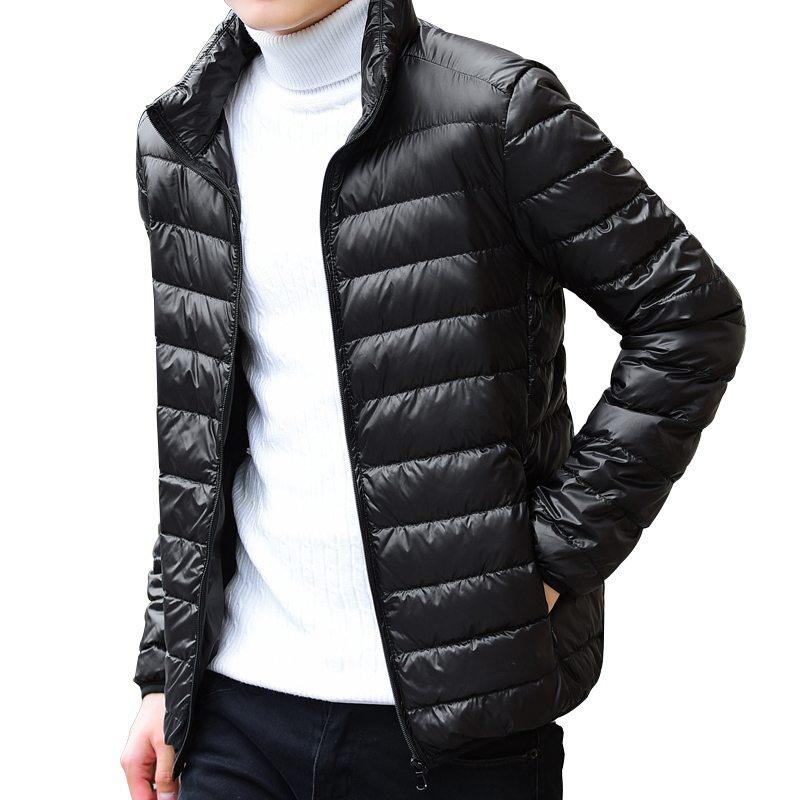 2017 New Casual Brand White Duck Down Jacket Men Autumn Winter Warm Coat Mens Ultralight Duck Down Jacket Male Windproof coat