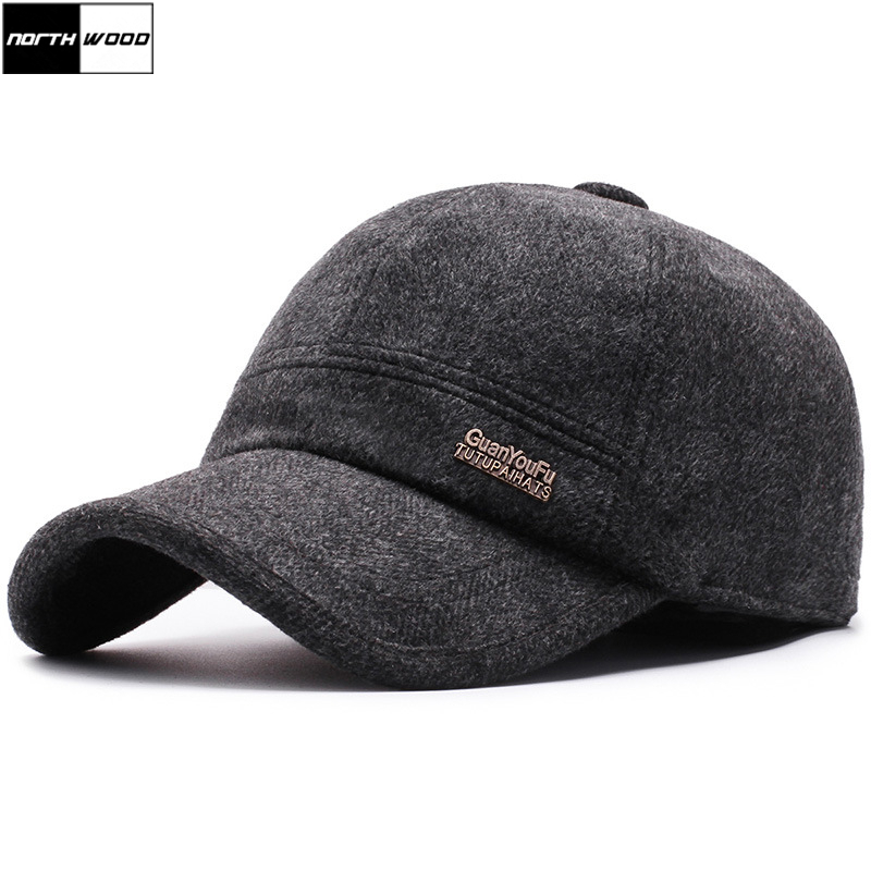 Winter Cap Snapback Hat Baseball-Cap NORTHWOOD High-Quality Men with Ear-Flaps Gorra