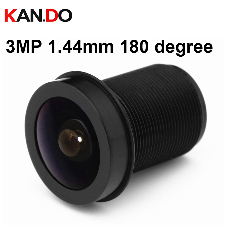 "HD 3MP 1.44mm 180° angle 1//3/"" Panoramic CCTV lens Fisheye IR F2.0 for IP Camera"