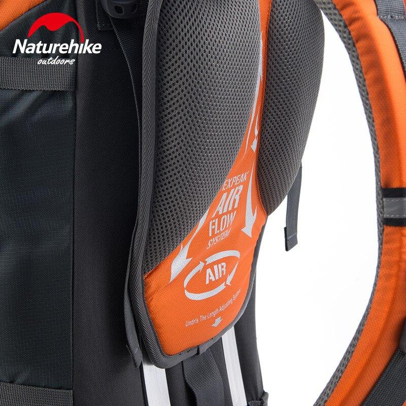 Image 4 - NatureHike 70L Rucksack Outdoor Hiking Backpack Nylon Waterproof Travel Backpack Aluminium Alloy External Frame Sports BackpackClimbing Bags   -