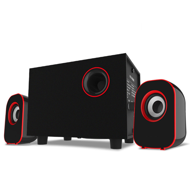 Surround Stereo Holz Computer Lautsprecher Heimkino Multimedia Kombination Subwoofer USB Port 2,1 Laptop Desktop Lautsprecher
