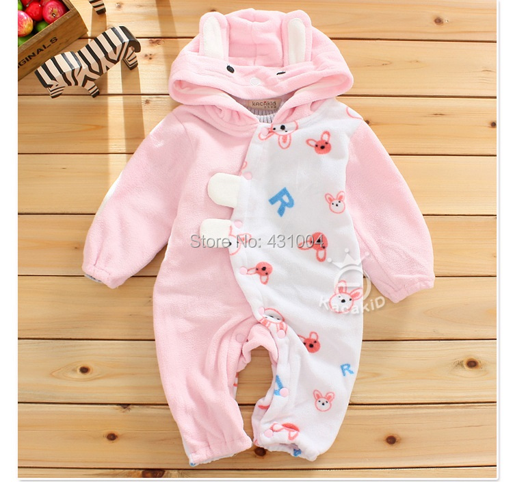 spring autumn baby winter cute rabbit long sleeve rompers Infant Cartoon Boys Girls Long Sleeve Jumpsuits new baby rompers long sleeve coveralls cute v neck baby clothes solid cotton infant romper spring autumn boys girls jumpsuits
