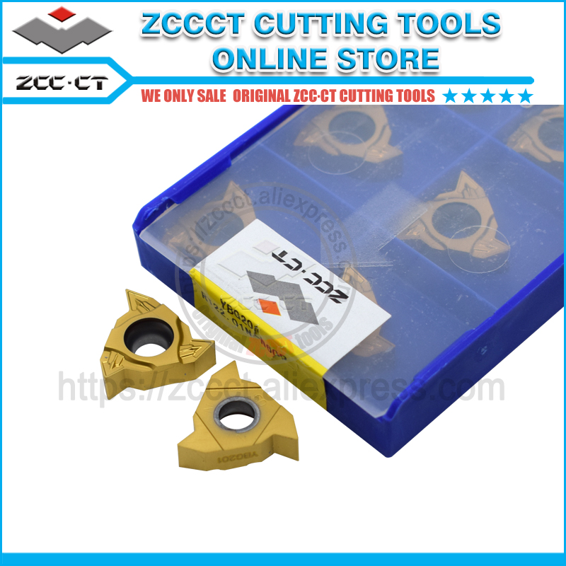 ZCC turning tool RT22 01N N60P YBG201 zccct carbide threading insert 22ir n60p for internal thead