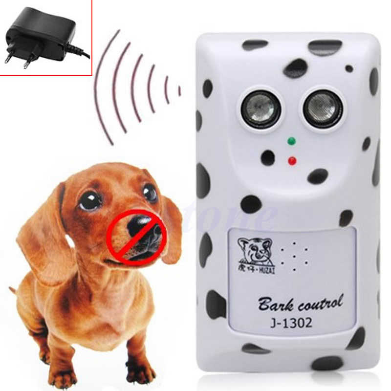 Dispositivo Humanely Ultrasonic Anti No Bark Stop Barking Dog Controle Silenciador Hanger UE Plug