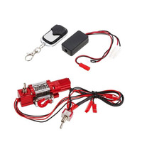1/10 RC Crawler Double Switch Metal Steel Wired Winch w/Remote Receiver for 1/10 Traxxas HSP Redcat TAMIYA CC01 Axial SCX10 D90