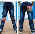 Fashion Denim Pants Boys Ripped Jeans 2-14 Yrs Baby Boys Jeans  Children's  plus velvet Jeans Kids Trousers
