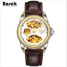 Relogio masculino BOSCK hommes de haut de gamme de luxe mécanique montres creux d'eau loisirs d'affaires montres erkek kol saati, relojes