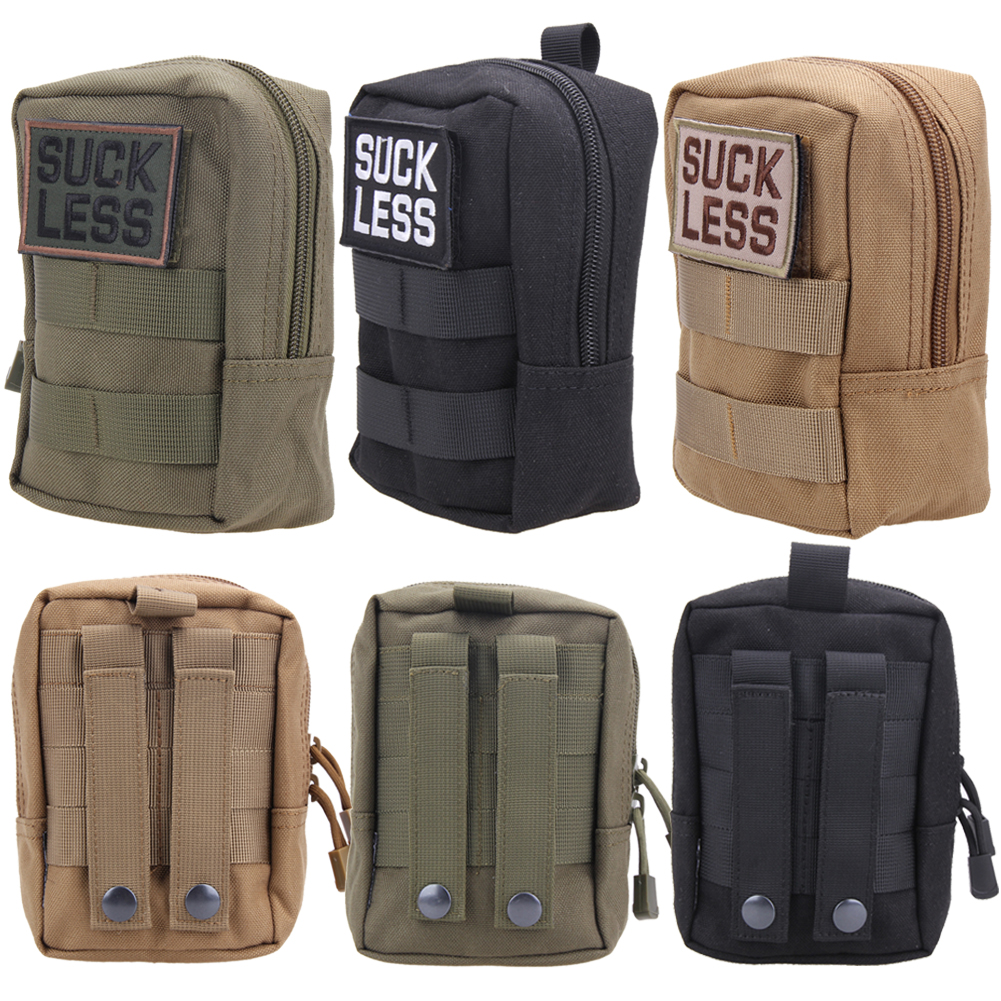 600D Nylon Sports Outdoor Utility Military Tactical Waist Bag EDC Molle Pouch Tool Zipper Waist Pack Hunting Bags New cqc tactical molle system medical pouch utility edc tool molle pouch waist pack phone pouch hunting 1000d molle bag