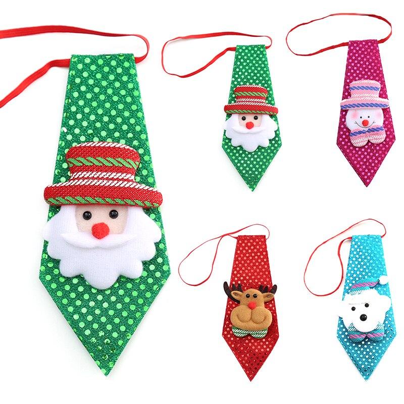 2017 Рождество галстук Блёстки Санта Клаус Снеговик Свадебная вечеринка регулируемый дети лук галстук Одежда ...