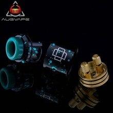 Augvape Druga rda atomizer 24mm Clamp Snag System SS 304 24K Gold Platede Deck elctronic cigarette atomizer vape tank rda цены