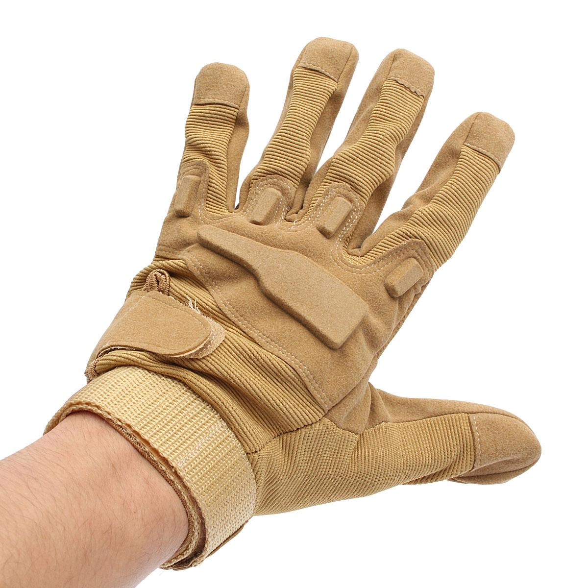 цена на NEW Anti Slip Full Finger Outdoor Military Airsoft Hunting Cycling Tactical Gloves Workplace Safety Protection Glove
