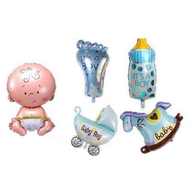 5 шт. Детские 1st воздушные шары набор розовый и голубой номер фольги Воздушные шары игрушки для мальчиков и девочек украшения для детей