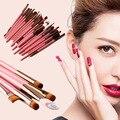 Aochern 20 unids Conjunto Blending Pinceles Pinceles de Maquillaje En Polvo Fundación Delineador de Cejas Sombra de Ojos Cepillos Cosméticos Herramienta