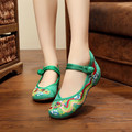 5 Colors Plus Size 35-41 Beijing Shoes Woman Fashion Lion Dance Embroidery Shoes For Women Casual Driving Flats zapatos mujer
