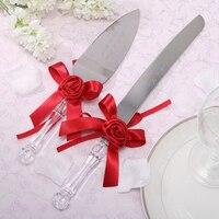 Personalized Wedding Cake Knife Server Set Acrylic Handle Stainless Steel Cake Serving Set Customized Wedding Favors