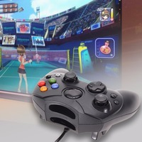 2Pcs Lot Black Wired Gaming Controller Game Pad Joystick With 1 47m Cable For Microsoft XBOX
