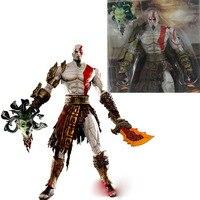 5 set/lotto 18 cm di alta qualità neca god of war in golden fleece armor medusa testa pvc action figures toy
