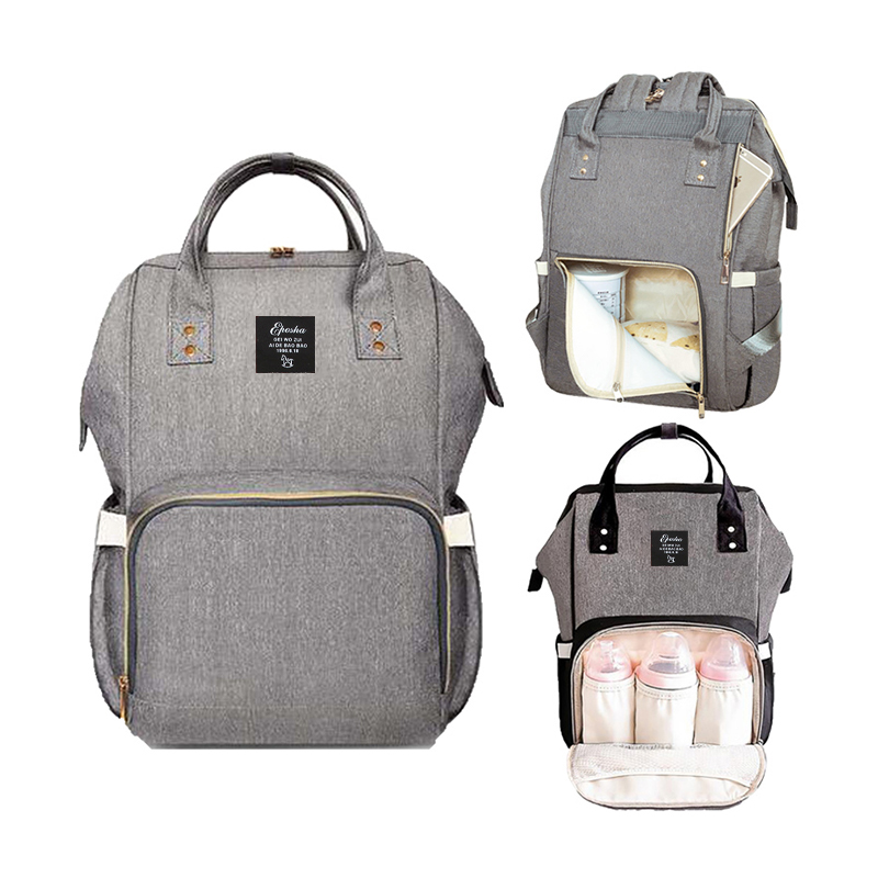 2019 New Mummy Maternity Nappy Bag Outdoor Mom Backpack Large Capacity Nursing Bag Mummy Travel Backpack Zippers Baby Care Bag