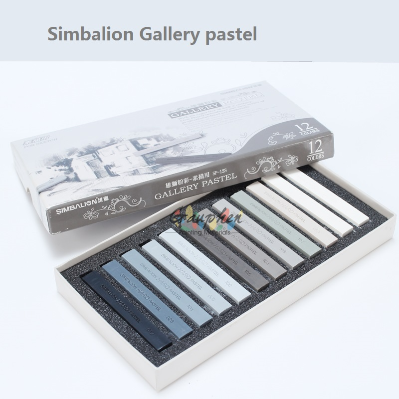 12 colors set hard Gallery pastel sketch Masters Pastel Simbalion brand купить в Москве 2019