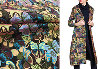 Colorful Butterfly jacquard brocade cloth,Spring and Autumn skirt material,patchwork fabric,140cm*100cm/PCS