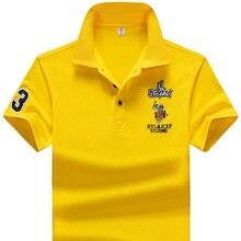 YIHUAHOO бренд поло рубашка Для мужчин высокое качество Для мужчин из полиэстера с короткими рукавами летняя рубашка брендовые рубашки с коротким рукавом рубашка поло HOMBRE Размеры M-4XL JCP-733