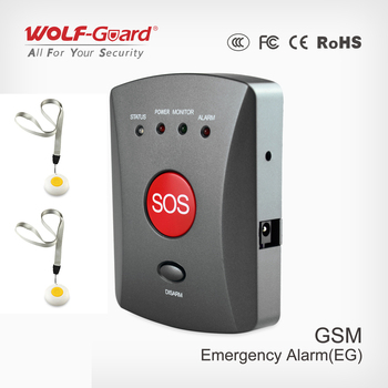 Wolf Guard Wireless GSM SMS SOS Button Panel with SOS Panic Button for Elder Children Emergency Home Alarm Security System 007EG|Alarm System Kits|   -