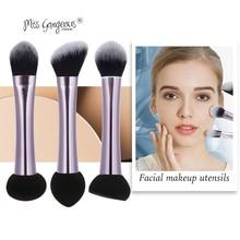 Miss Gorgeous Makeup Brushes Double Head Beauty Cosmetics Tool Powder Puff Makeup Sponge Liquid Foundation Make up Brush Set