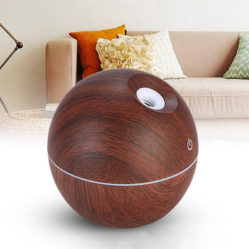 Led Colorful Usb Intelligent Induction Wood Grain Humidifier Ultrasonic Air Aroma Essential Oil Diffuser For Office Home
