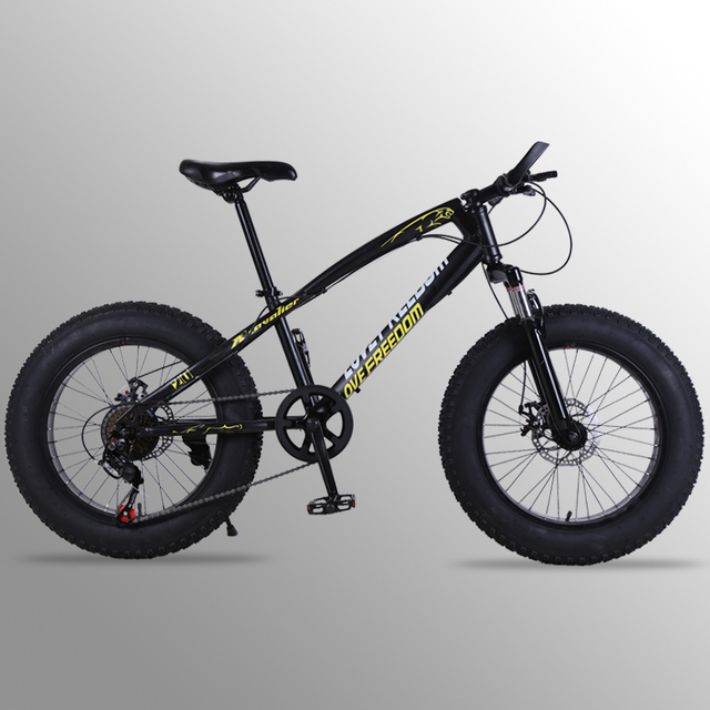 """mountain bike 21 speed 2.0X4.0""""bicycle Road bike fat bike Front and Rear Mechanical Disc Brake Women and children  Spring Fork"""