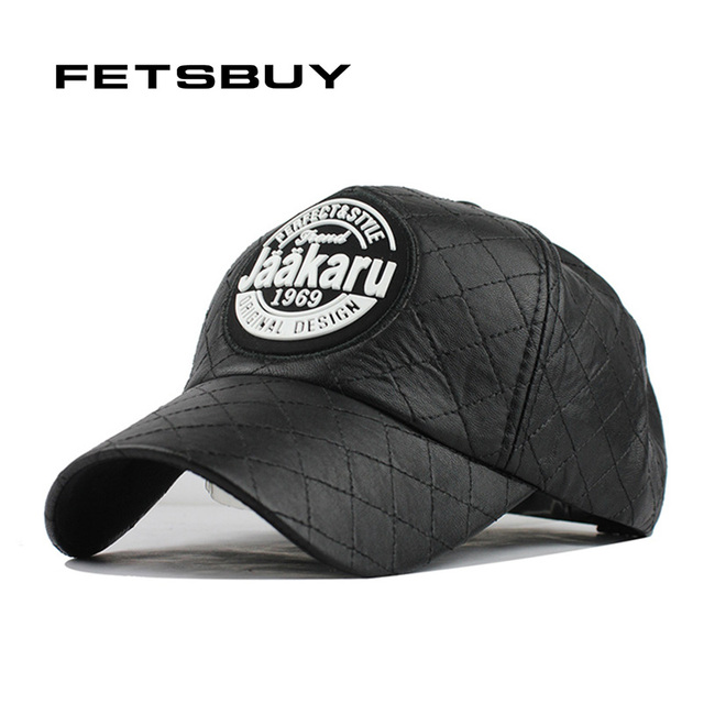 0cc3ab3f10ffd4 FETSBUY High Quality PU Womens Baseball Cap Fall Leather Cap Women Trucker  Caps Fitted HIP HOP Snapback Winter Hats For Women