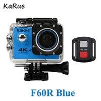 Karue F60/F60R 10 шт. спортивный экшн камеры Депортива Ultra HD 4 К Wi Fi 1080 P 170D Водонепроницаемый велосипед шлем cam мини видеокамера DHL
