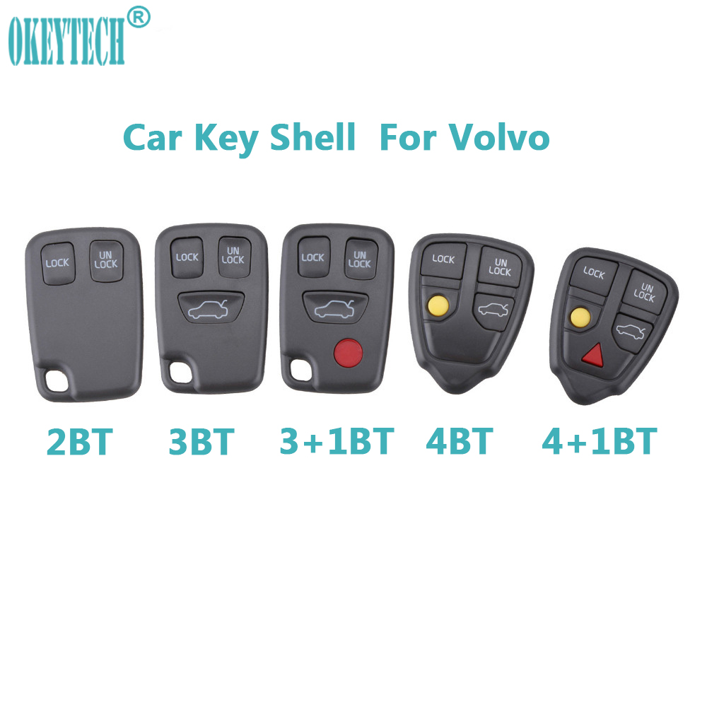 OkeyTech Remote Fob Car <font><b>Key</b></font> Shell Case <font><b>Replacement</b></font> Auto <font><b>Key</b></font> Cover 2/3/4/5 Buttons For <font><b>VOLVO</b></font> S70 V70 C70 <font><b>S40</b></font> V40 1998-2005 Shell image