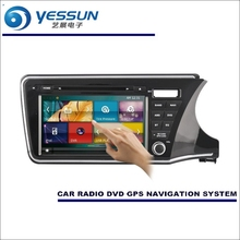 For Honda City RHD 2014~2016 – Car Radio CD DVD Player Amplifier HD TV Screen GPS Map Nav Navi Navigation Audio Video System