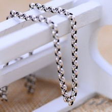 Silver Ring Necklace Sterling silver jewelry wholesale sweater chain jewelry factory direct male children mixed batch