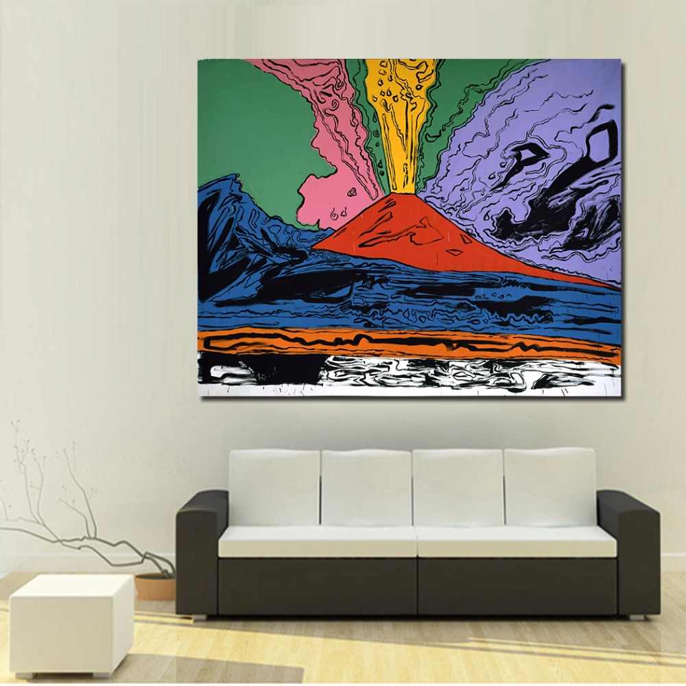 Living Room Paintings Jqhyart Home Decor Oil Painting Andy Warhol Vesuvius Wall Pictures For Living Room Paintings On Canvas No Frame