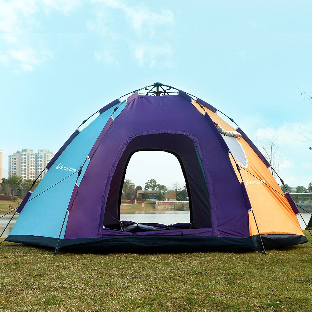 Wnnideo Automatic Instant Pop Up Tent Outdoor 6 8 Person Family Tent Waterproof for C&ing Hiking Travel Beach or in Park -in Tents from Sports ... & Wnnideo Automatic Instant Pop Up Tent Outdoor 6 8 Person Family ...