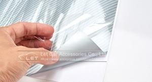 Image 2 - Car Styling wysoki połysk 5D srebrna folia winylowa z włókna węglowego z włókna węglowego arkusz folii samochodowej folia zwiajana narzędzie samochód naklejka naklejka