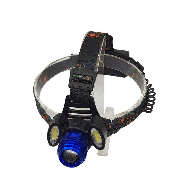 8000lm T6 + 2 * COB Światła Reflektorów zoomable Niebieski - Przenośne oświetlenie - Zdjęcie 5
