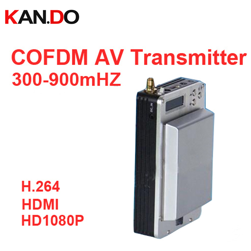 Aliexpress Buy 05w NLOS Transmitter Video 1080P COFDM Av Transceiver Image Transmission 300 900mhz Millitary From